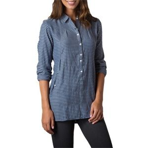 Toad&Co Mixologist Chambray Stripe Tunic Popover